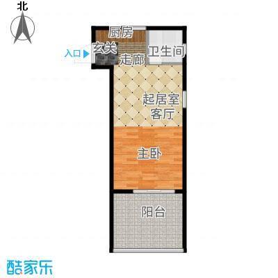 三亚金棕榈39.29㎡三亚·金棕榈6、7号楼A户型1室1厅