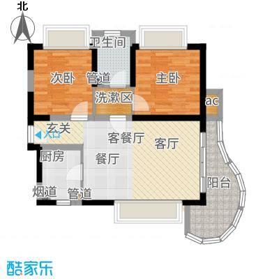 三亚一山湖77.06㎡B户型2室2厅