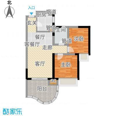 三亚一山湖77.84㎡C户型2室2厅