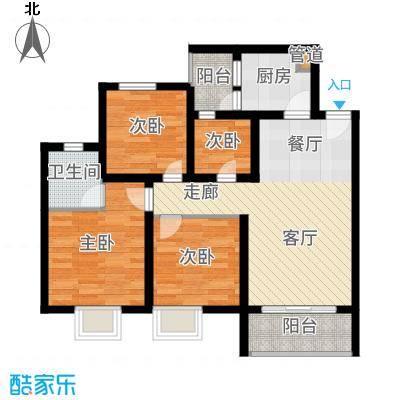 海韵阳光城82.13㎡A-(2)  户型3室2厅