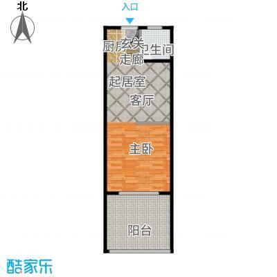 三亚金棕榈43.35㎡三亚·金棕榈6、7号楼D户型1室1厅