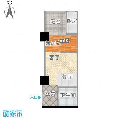 三亚太阳岛公寓F1/F2户型1室1厅