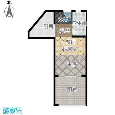 三亚金棕榈41.33㎡三亚·金棕榈2、3号楼D户型1室1厅
