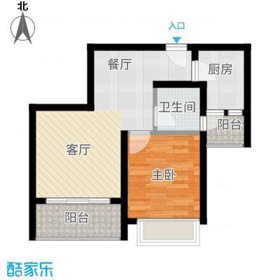 海韵阳光城55.88㎡B-(4)  户型1室1厅