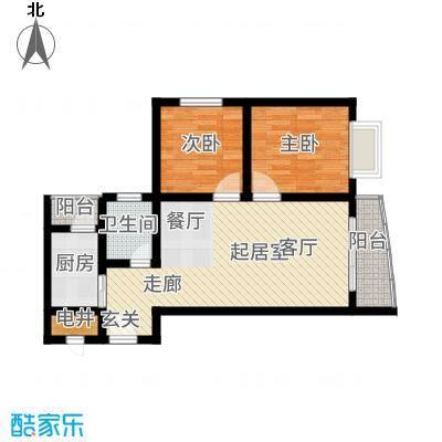 山水兰庭71.23㎡05-12户型2室2厅