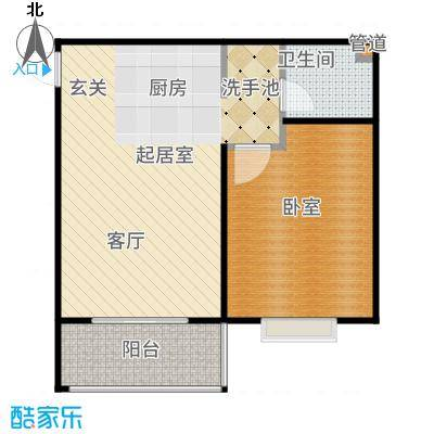 三亚南新悦城59.57㎡7#、11#A户型1室1厅