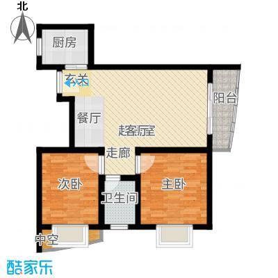 山水兰庭77.63㎡07-10户型2室2厅