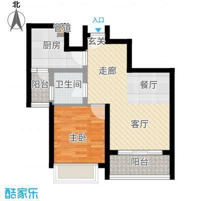 海韵阳光城56.54㎡B-(2)  户型2室2厅