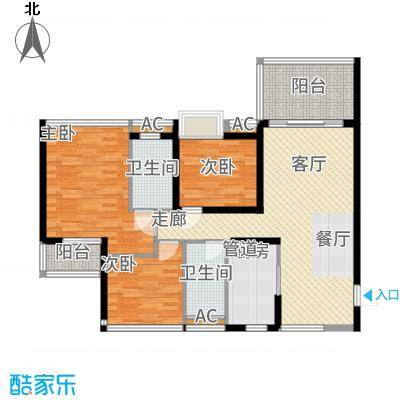 南枫禅墅102.74㎡C1/D2户型3室2厅