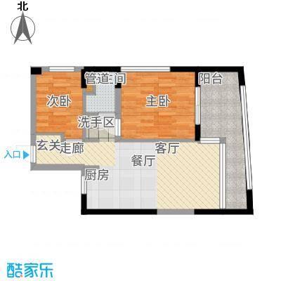 隆鑫诺亚方舟53.00㎡公寓-B户型1室1厅