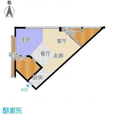 东和中央海岸103.17㎡【】4户型1室1厅