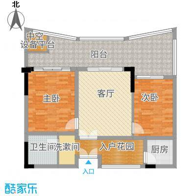 保利半岛1号85.00㎡保利·半岛1号A3原始平面图1户型2室2厅
