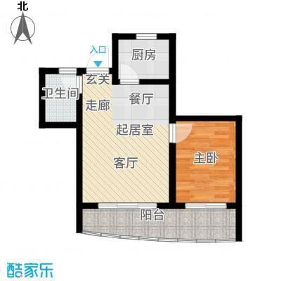 山水兰庭55.79㎡09+1偶数层户型1室2厅