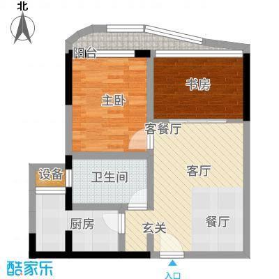 瑞都水郡58.00㎡【】A户型2室2厅