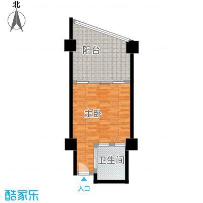 三亚海韵度假酒店55.03㎡A-16户型1室1厅