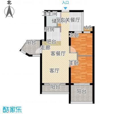 金祥万卷山70.78㎡C-1a&apos户型2室2厅