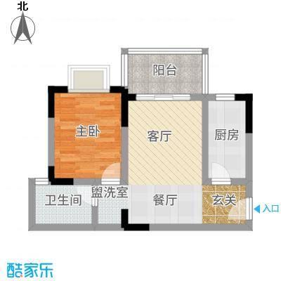 凤凰山居58.19㎡5号楼户型1室2厅