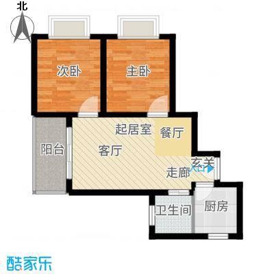 山水兰庭64.86㎡01-04户型2室2厅