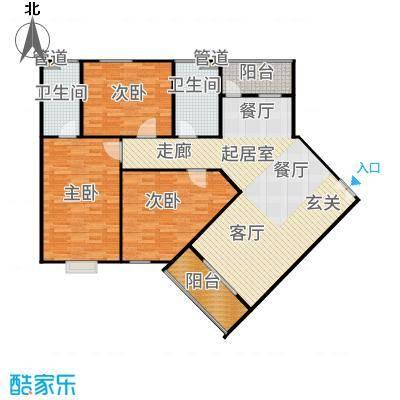 三亚南新悦城124.70㎡8#3号房户型3室2厅