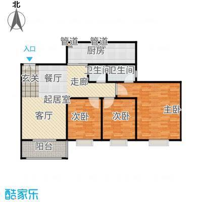 三亚南新悦城113.20㎡8#4号房户型3室2厅