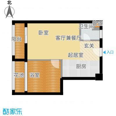 三亚领海51.00㎡芭堤雅艳阳B户型2室1厅