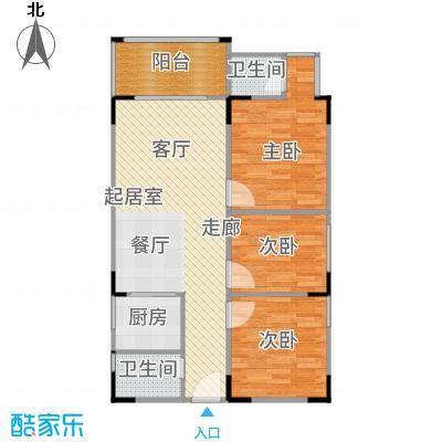 三亚南新悦城85.02㎡B户型3室2厅