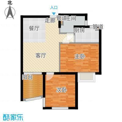 南山六和悦城85.00㎡B户型2室2厅