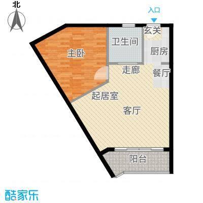 兴隆美丽春天72.85㎡【】B型09户型1室1厅