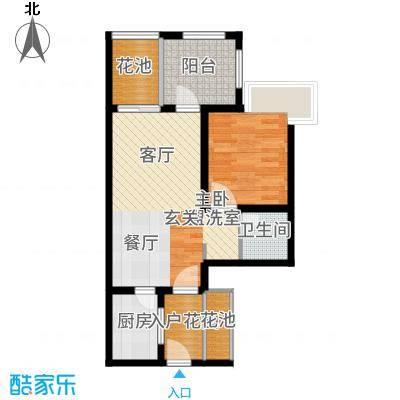 南天凤凰城55.89㎡户型1室2厅