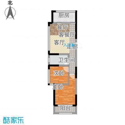 建东悦海湾83.45㎡户型2室2厅