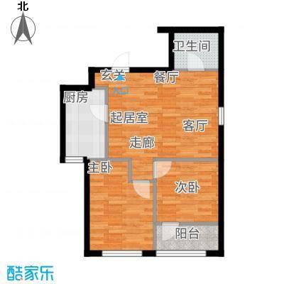 圆梦园户型2室1厅