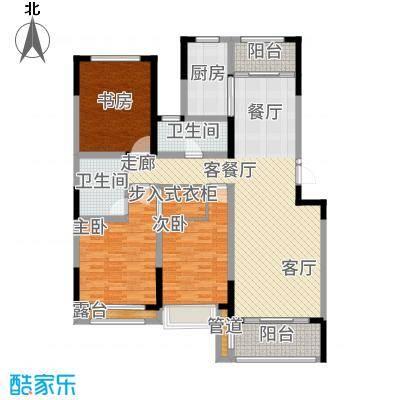 建东悦海湾148.06㎡户型3室2厅