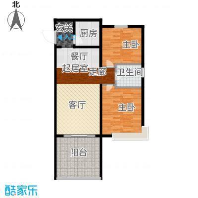 三亚金棕榈73.51㎡三亚·金棕榈2、3号楼B户型2室2厅