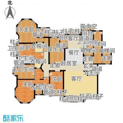 浦东星河湾528.00㎡A1户型5室3厅