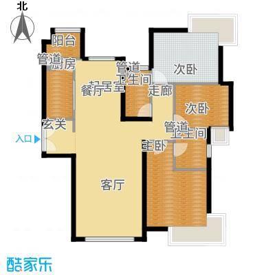 富力津门湖90.74㎡户型2室2厅