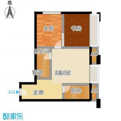 中贸广场61.00㎡户型2室2厅