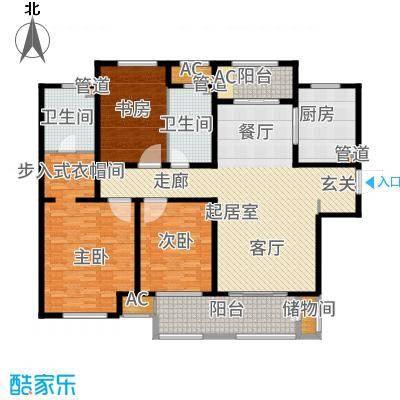 金地艺华年别墅190.00㎡户型4室3厅