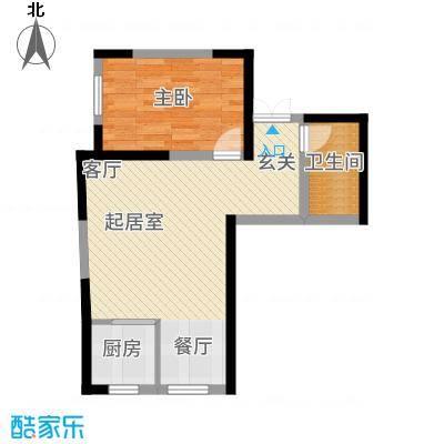 汉庭香榭67.19㎡2-A户型1室2厅