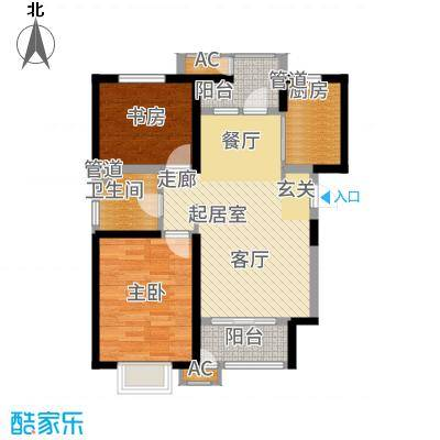 意境兰庭89.00㎡小高层标准层A1户型2室2厅