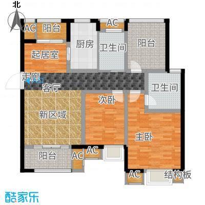 旭辉苹果乐园110.00㎡一期7#标准层A1户型2室2厅