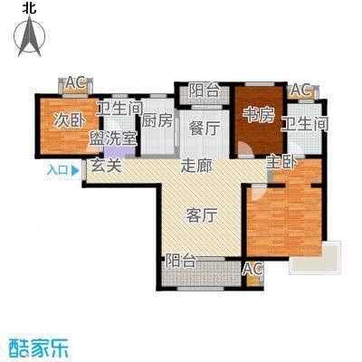 中铁逸都国际110.00㎡B户型3室2厅