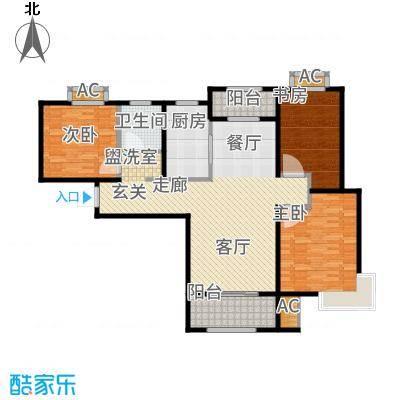 中铁逸都国际130.00㎡C户型3室2厅