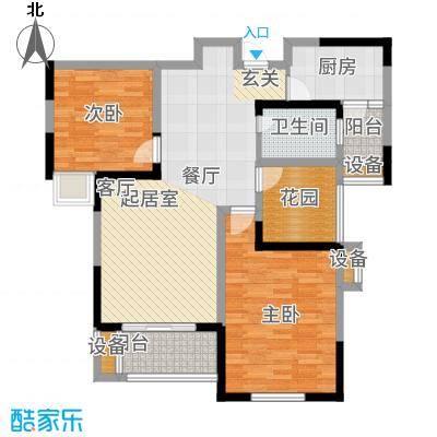 圣联梦溪小镇96.00㎡7#户型2室2厅
