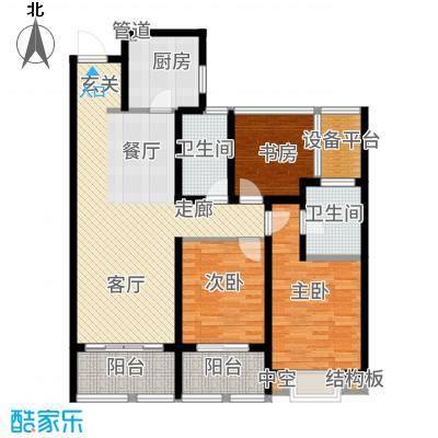 龙湖时代天街113.00㎡A7-1户型3室2厅