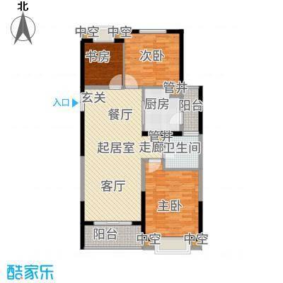 淮矿馥邦天下115.00㎡B户型3室2厅