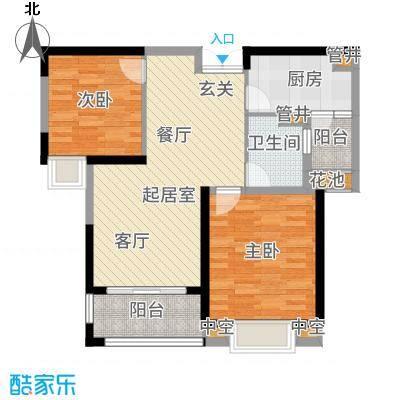 淮矿馥邦天下89.00㎡A2户型2室2厅