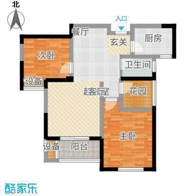 圣联梦溪小镇88.00㎡2#0户型2室2厅