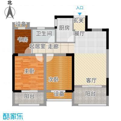 圣联梦溪小镇95.00㎡12、14#楼户型3室2厅
