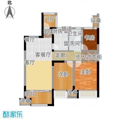 金科天籁城93.00㎡户型3室2厅