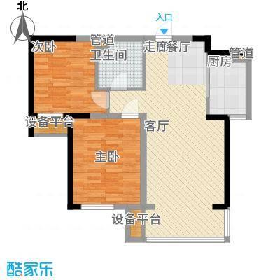 红星海世界观92.00㎡青屿蓝C高层88-92m2户型2室2厅